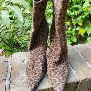Suede Stuart Weitzman Leopard High Heel Booties